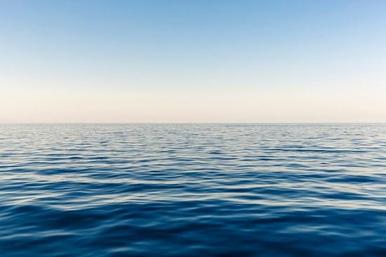 Wandfarben Ideen blau Meer