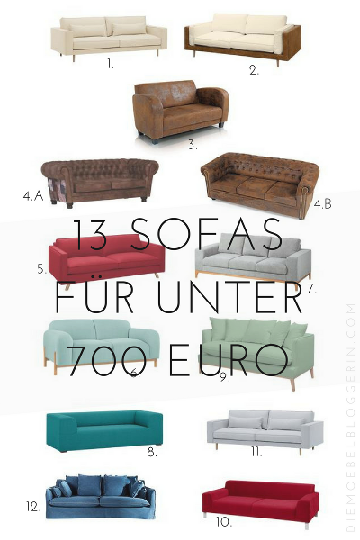 g nstig modern 13 sofas f r unter 700 euro. Black Bedroom Furniture Sets. Home Design Ideas