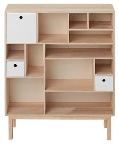 regale raumteiler und kommoden mit unterschiedlichen fach und schubladengr en. Black Bedroom Furniture Sets. Home Design Ideas