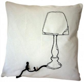 mittwochsfundst ck kissenbez ge aus festem baumwollstoff mit aufgestickten retro gegenst nden. Black Bedroom Furniture Sets. Home Design Ideas