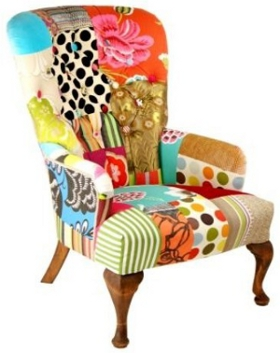 Englische m bel sesselklassiker im patchwork outfit for Ohrensessel union jack