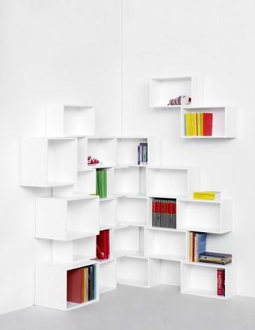 kreativ zusammengew rfelte regalw nde. Black Bedroom Furniture Sets. Home Design Ideas