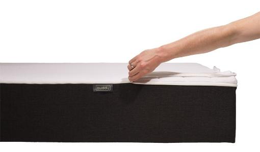 r ckenfreundliche matratze mit aufzippbarem bettlaken. Black Bedroom Furniture Sets. Home Design Ideas