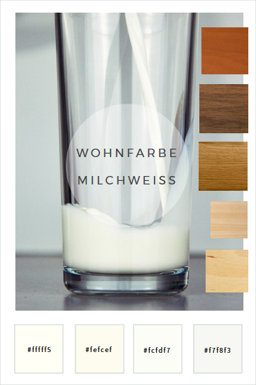 Weißtöne Wandfarbe farbkonzepte wände in milchweiß