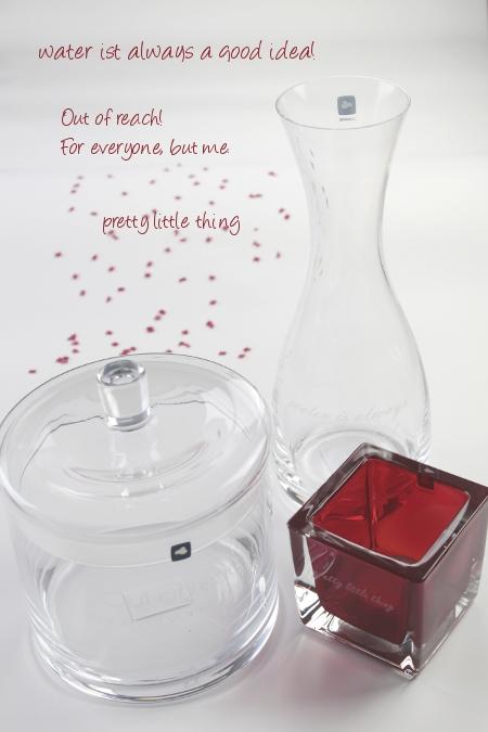 LEONARDO Teelichtglas Dose mit Deckel Karaffe