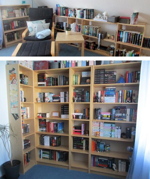 Ordnung im Bücherregal halbhoch